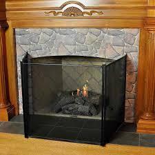 3 fold child guard fireplace screen
