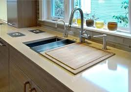 kitchen sinks with cutting board sink sliding house beautiful mick round american standard colander and boa