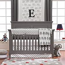 Baby Bedding - Crib Bedding Sets, Sheets, Blankets & more - Bed ... & image of Liz and Roo Elephants 3-Piece Crib Bedding Set in Grey Adamdwight.com