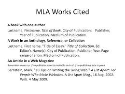 26 Images Of Mla Works Cited Template Leseriail Com