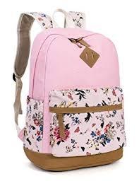 Leaper <b>Cute Floral</b> Canvas School Backpack Laptop <b>Shoulder Bag</b> ...
