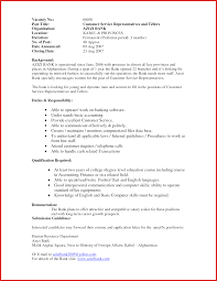 Elegant Bank Teller Resume Formal Letter