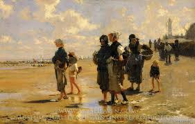 john singer sargent the oyster gatherers of cancale oil painting reion
