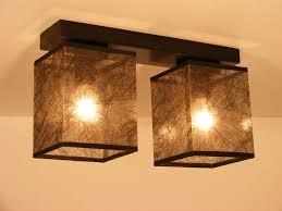 basari ceiling lights wenge brown wood base and two dark fabric lamp shades