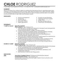 Administrative Assistant Summary Resumes Executive Assistant Resume Examples Job Resume Examples