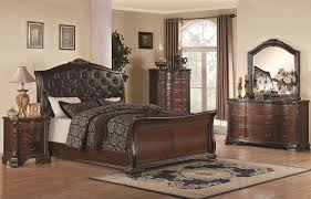 coaster furniture maddison faux leather 2pc bedroom set with cal king bed to enlarge