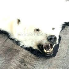 bear rug fake polar foot faux for skin with head bear fur rug
