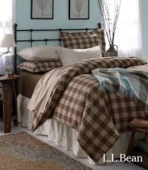 mix and match l l bean s ultrasoft flannel bedding in solids stripes and buffalo plaid