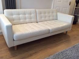 Small Picture IKEA Landskrona 3 seat white leather sofa White leather sofas