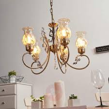 hanging light heti with five bulbs antique style