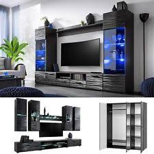 Living room wall furniture Small Space Furniture Living Room Tv Unit Cabinet Wall Shelf Coffee Table Sideboard Wardrobe Forbes Tv Wall Units Ebay