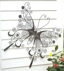 sophisticated metal outdoor wall decor metal monogram solar light