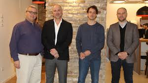 oracle-startups – Attending the January 2017 launch of the Oracle Startup  Cloud Accelerator in Tel Aviv are, from left, Avi Stern, CFO at Wix, Moshe  Selfin, COO/CTO and partner at Credorax, Gil