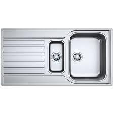 franke ascona asx 651 stainless steel 1 5 bowl kitchen inset sink