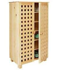 Shoe Storage Cabinet LARGE Solid Pine Shoe Tidy Wooden 5 TIER