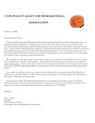 Solicitation Letter Sample Solicitation Letter For Basketball Team Uniform Chainimage