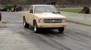 S10 Pickup drag race...1983 small block, Coached by Jerry Arnold ...