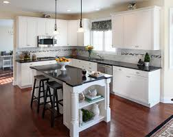 Of White Kitchens With Granite What Countertop Color Looks Best With White Cabinets