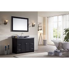 bathroom vanity black. Ace 49 Inch Transitional Bathroom Vanity Black Finish Granite Top