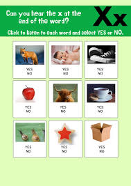 Also, think up a word that starts with x and draw it. Letter X Interactive Worksheet