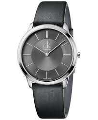 calvin klein minimal men s swiss minimal black leather strap watch calvin klein minimal men s swiss minimal black leather strap watch 40mm k3m211c4