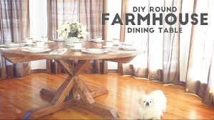 stunning diy round farmhouse dining table modern builds ep pict for and chairs concept with leaf
