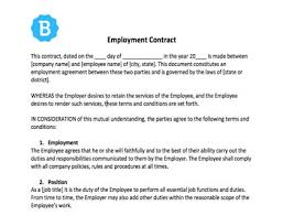 These deals often involve the transaction of money and act as a legal document, recognized by the court. Employee Contract Template Free Download