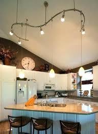 Vaulted Ceiling Kitchen Lighting Modern Kitchen Modern Mini Pendants