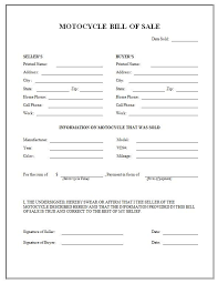 Bill Of Sale For Business Printable Sample Motorcycle Bill Of Sale Form Laywers Template