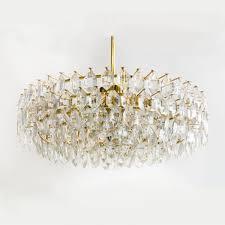 bakalowis sons large crystal glass chandelier vienna austria 1950s