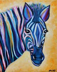 Wine And Design Leonardtown Colorful Zebra Lotus Kitchen In Solomons Wine Painting