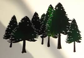 >hand crafted pine tree forest free form metal wall art sculpture by  custom made pine tree forest free form metal wall art sculpture