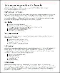 cv or resume samples resume and cv examples hairdresser apprentice sample cv resume
