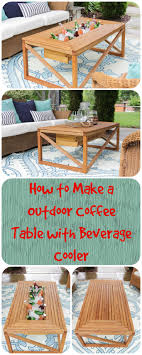 Table With Drink Trough Best 20 Picnic Table Cooler Ideas On Pinterest Outdoor Ideas