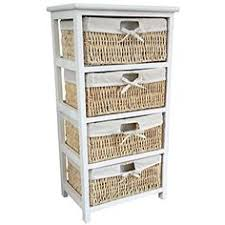 white storage unit wicker: white  draw wicker maize drawer storage unit white wood wicker drawer unit