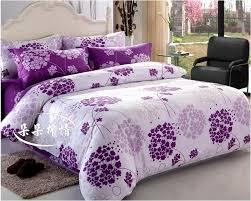 flower white purple 4pcs bedding set duvet cover bedding sheet bedspread pillowcase in bedding sets