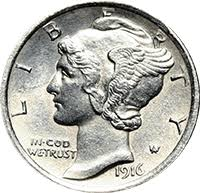 1916 D Mercury Dime Value Cointrackers