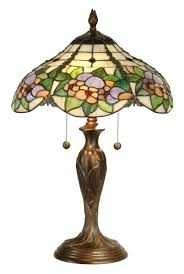 Dale Tiffany Floral Garden Art Glass Table Lamp M1668 Lamps