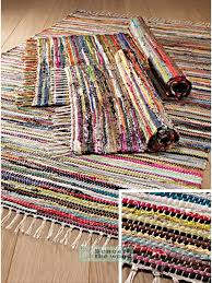 multi colour cotton rag rug 60 x 90cm 100 recycled cotton rag rugs 2x3