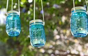 Mason Jar Candle Holders Simple Diy Hanging Glass Blue Mason Jar Candle Holders Hanging
