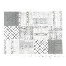 flat woven geometric rug black and white flat weave rug black white block print area accent