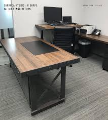 custom office desk. Beautiful Custom Office Desk 13420 The Hybrid Industrial Executive Fice L Shape Elegant S