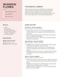 Executive Assistant Resume Examples Myperfectresume