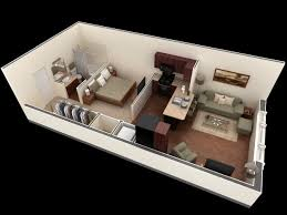Small Apartment Floor Plans One Bedroom 58 Best Images About 3 D Home Plan On Pinterest One Bedroom