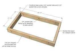 how to build a kitchen sink base cabinet kitchen cabinet sink base woodworking plans step 01