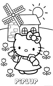 Piplup Hello Kitty Naam Kleurplaat