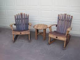 rocking chair wine barrel chair zoom