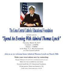 lima central catholic high school page 3 the lcc educational foundation is hosting the dinner and presentation by admiral lynch on 30 in the msgr e c herr gymnasium at lcc beginning at