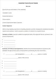 teacher resume format in word free download 40 teacher resume templates pdf doc pages publisher