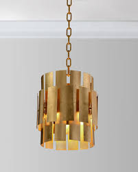 quick look john richard collection panes of gold leaf metal pendant